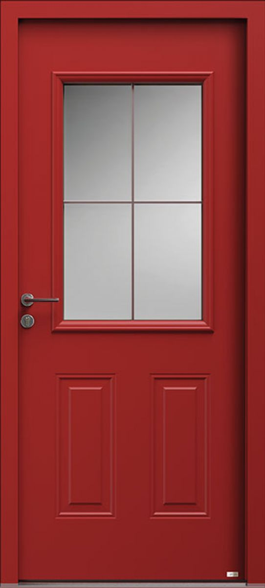 Aloé 4 face extérieure, couleur rouge Ral 3013