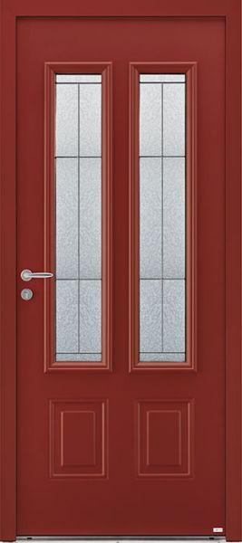 Aloé 6 face extérieure, couleur rouge Ral 3004