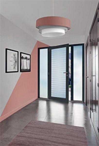 <p>Porte d'entrée Aluminium grand vitrage Candel 78</p>