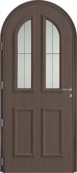 <p>Porte d'entrée Mixte Colina duo, face intérieure, finition chêne havane, option cintré<br></p>