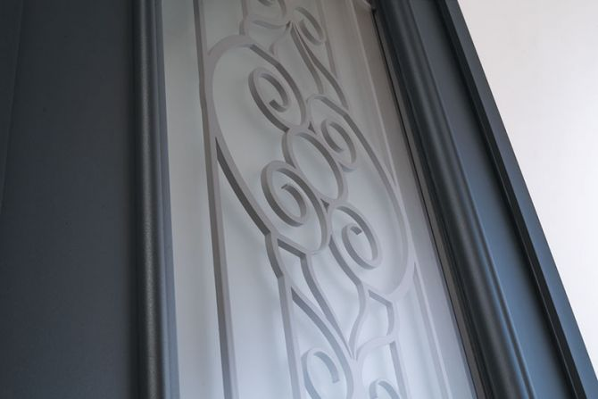 <p>Porte d'entrée Alu Confort Cordey 1</p>