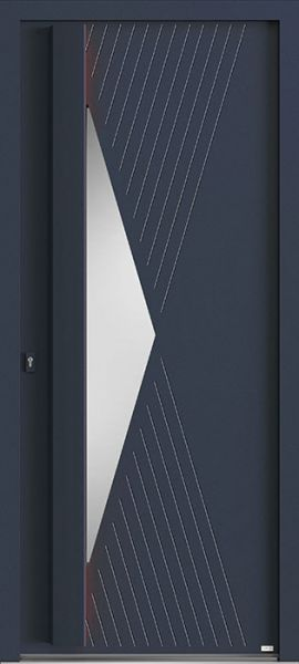 Elektro 3, vue extérieure couleur gris 7016 texturé