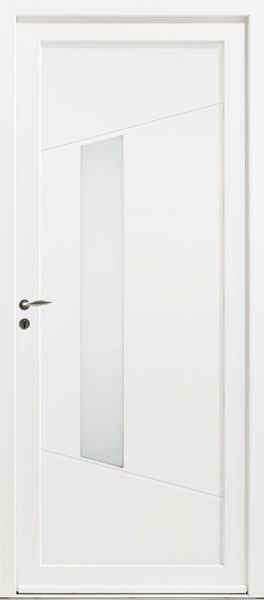 Kellys 5 vue extérieur, couleur blanc 9016 satiné
