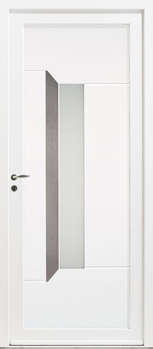 Kellys 6 vue extérieure, couleur blanc 9016 satiné