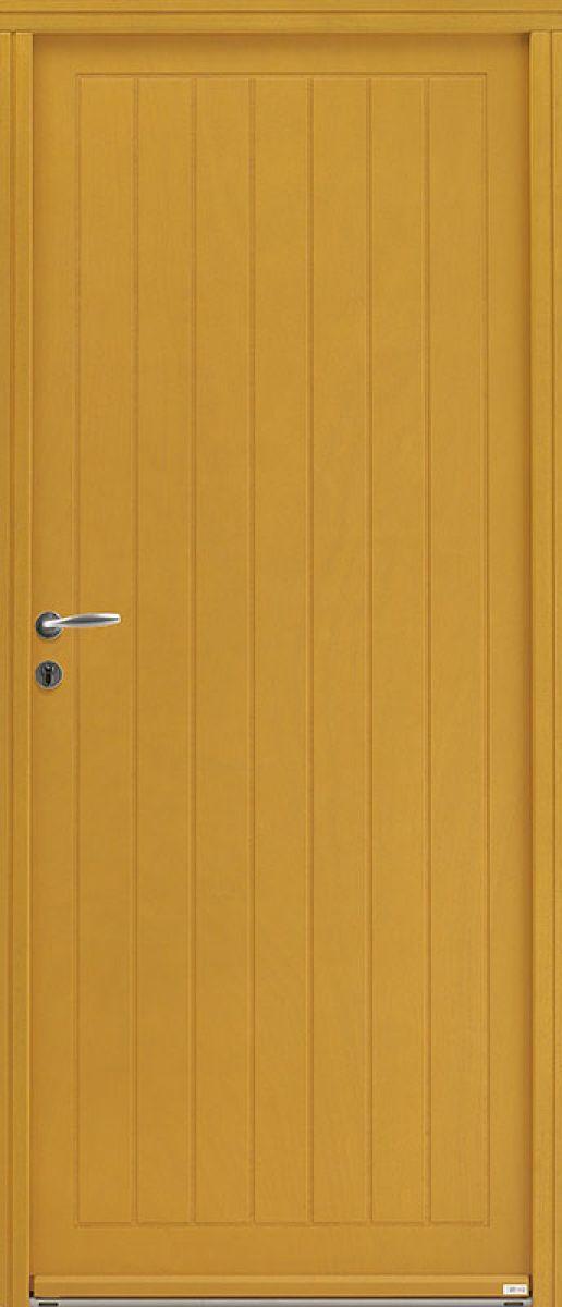 <p>Marie face extérieure, lasurée colorée ton bois<br></p>