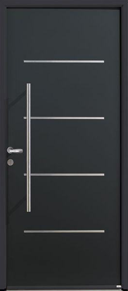 <p>Porte d'entrée Acier Saori avec option barre de tirage et poignée courte</p>