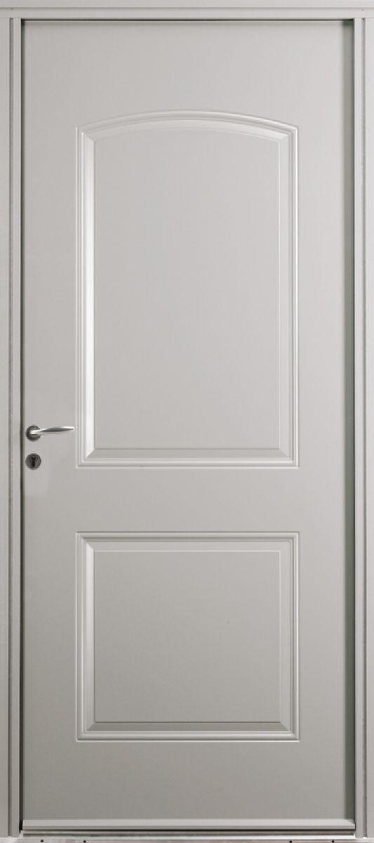 Saragosse face extérieure, couleur gris 7004 satiné