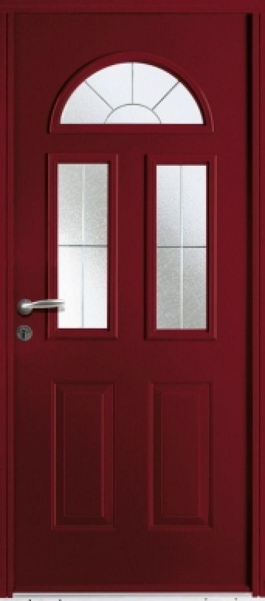 Seattle face extérieure, couleur rouge 3004 texturé