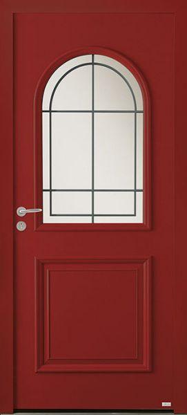 Siero face extérieure, couleur rouge Ral 3004 texturé